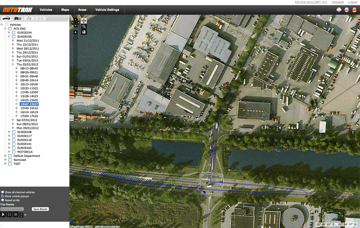 How Does Autotrak Function See Our Demo - Google map satellite zoom